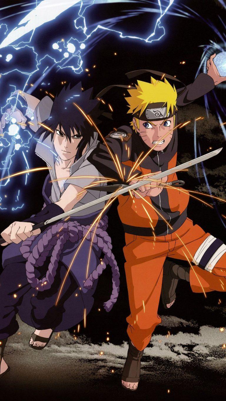 Naruto Sasuke Android Wallpaper - Naruto And Sasuke Wallpaper Iphone - HD Wallpaper