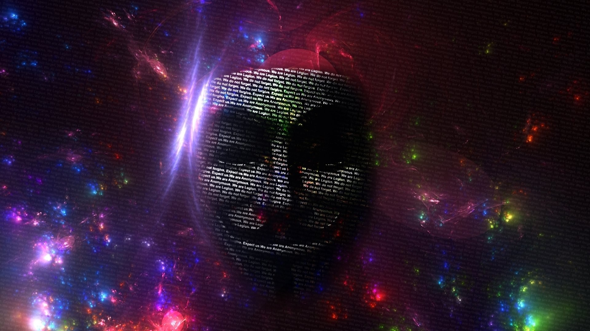 Colourful, Mask, Hacker,anonymous, Hacking,hd Abstract - Hacking Wallpaper For Windows 10 - HD Wallpaper