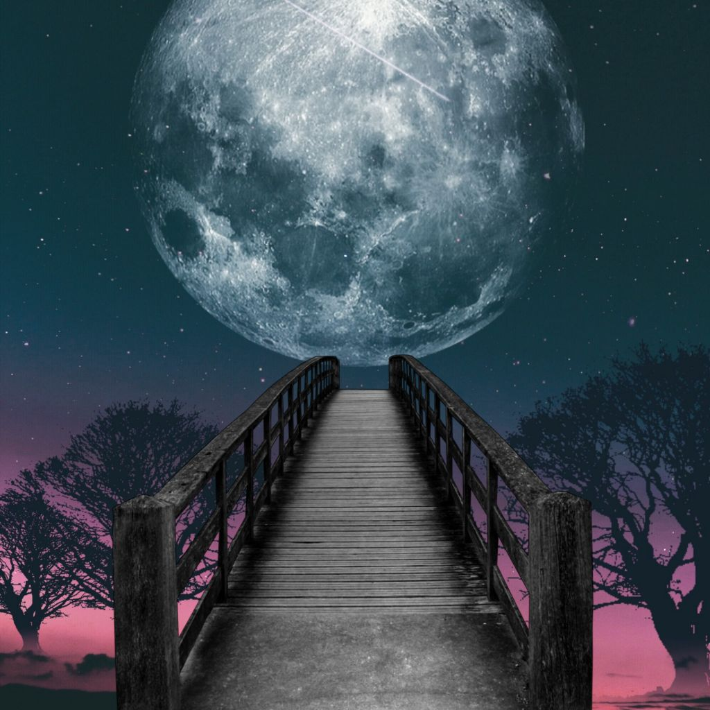 Picsart Background Hd Moon - HD Wallpaper
