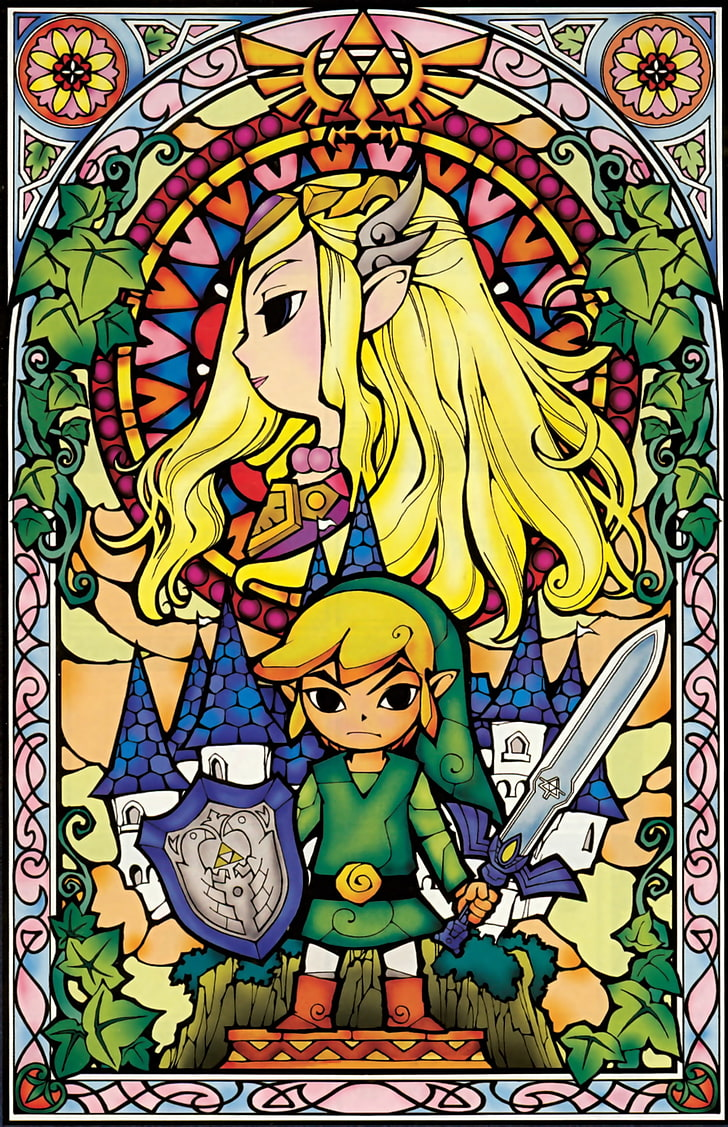 Link Triforce The Legend Of Zelda Princess Zelda The - Official Legend Of Zelda Artwork - HD Wallpaper