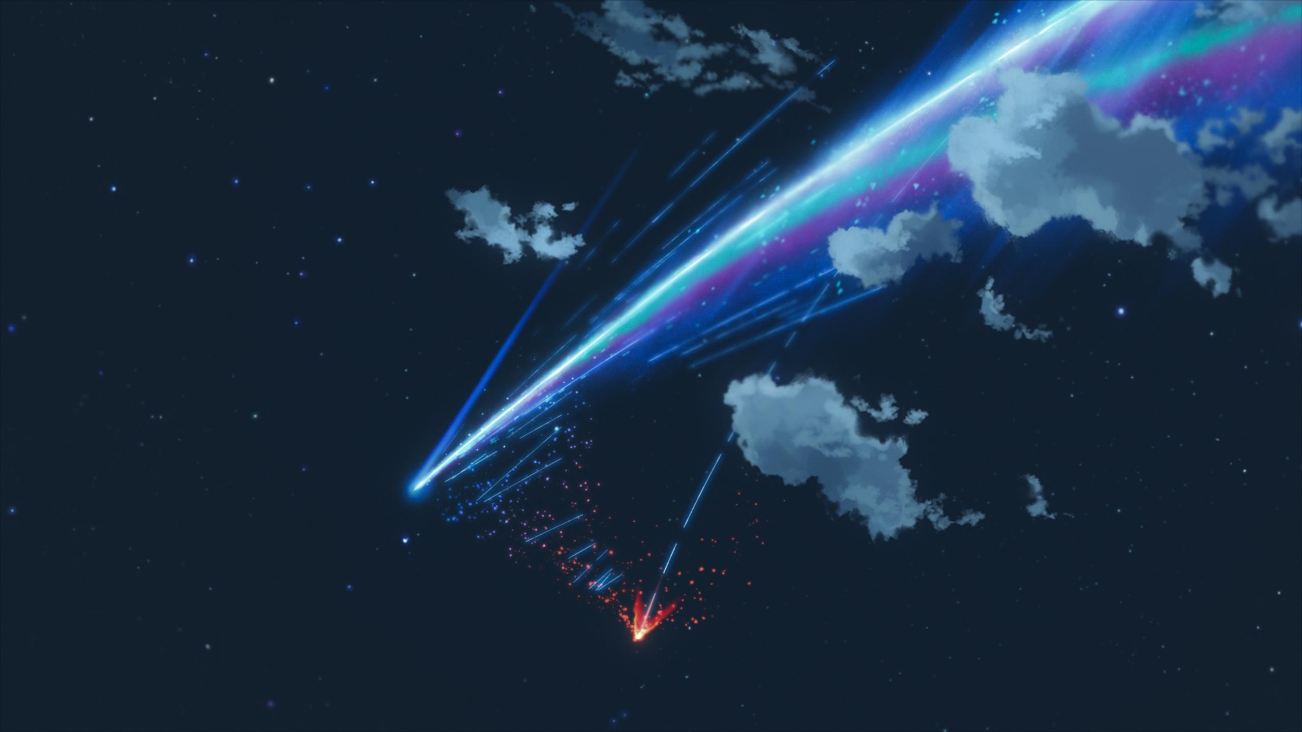 Meteor Kimi No Nawa Gif 2560x1440 Wallpaper Teahub Io