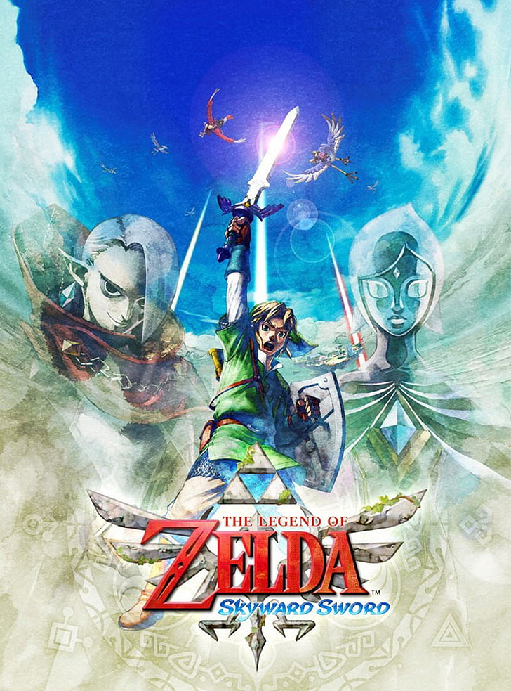 Link Artwork The Legend Of Zelda Skyward Sword Video - Legend Of Zelda Skyward Sword Cover Art - HD Wallpaper