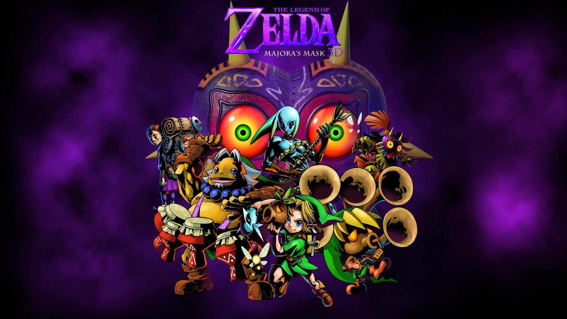 Zelda Majora S Mask 3ds Wallpaper By Zupertompa   Data-src - Zelda Majoras Mask Wallpaper Hd - HD Wallpaper