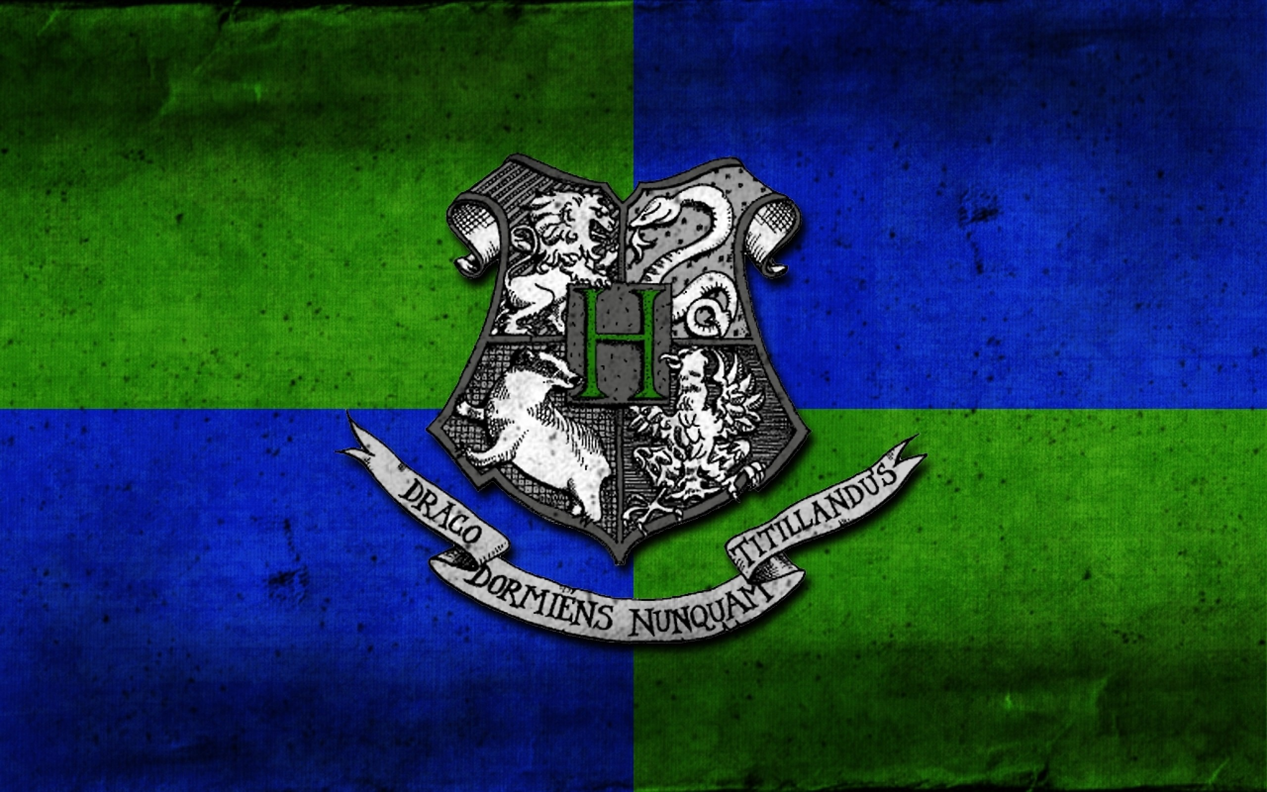 School Harry Potter Crest Hufflepuff Gryffindor Hogwarts - Slytherin And Ravenclaw Combined - HD Wallpaper