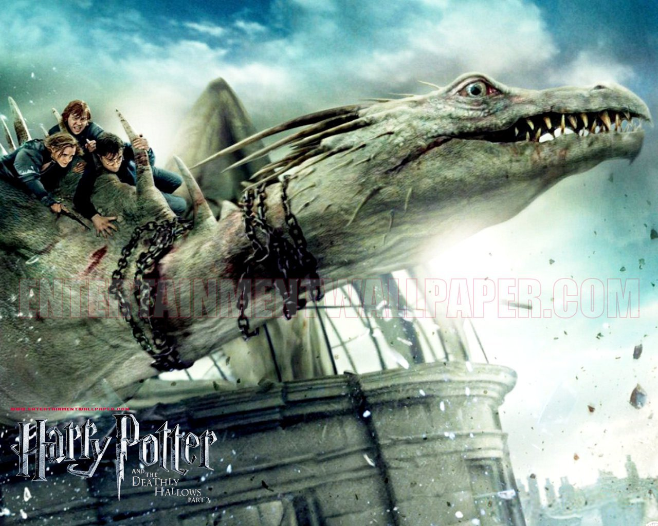 Harry Potter And The Deathly Hallows - HD Wallpaper