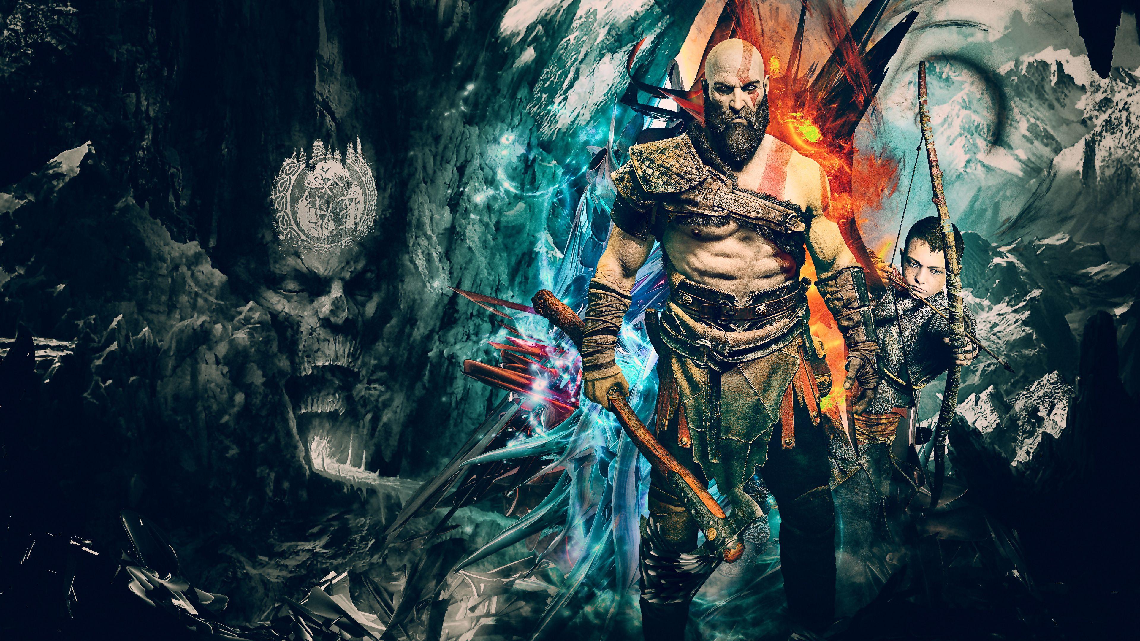 God Of War 4 4k - HD Wallpaper
