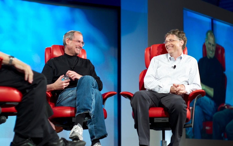 Steve Jobs I Bill Gates - HD Wallpaper