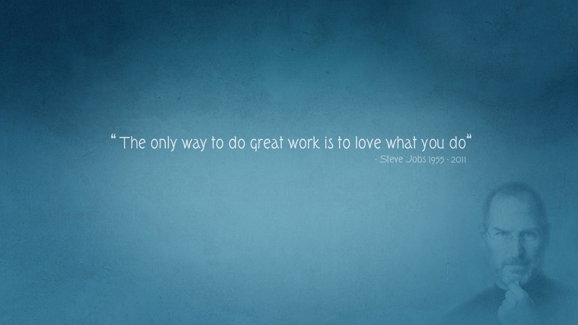 Best Thoughts On Love Your Work Motivation Quote Of - Desktop Wallpaper Steve Jobs Quotes - HD Wallpaper