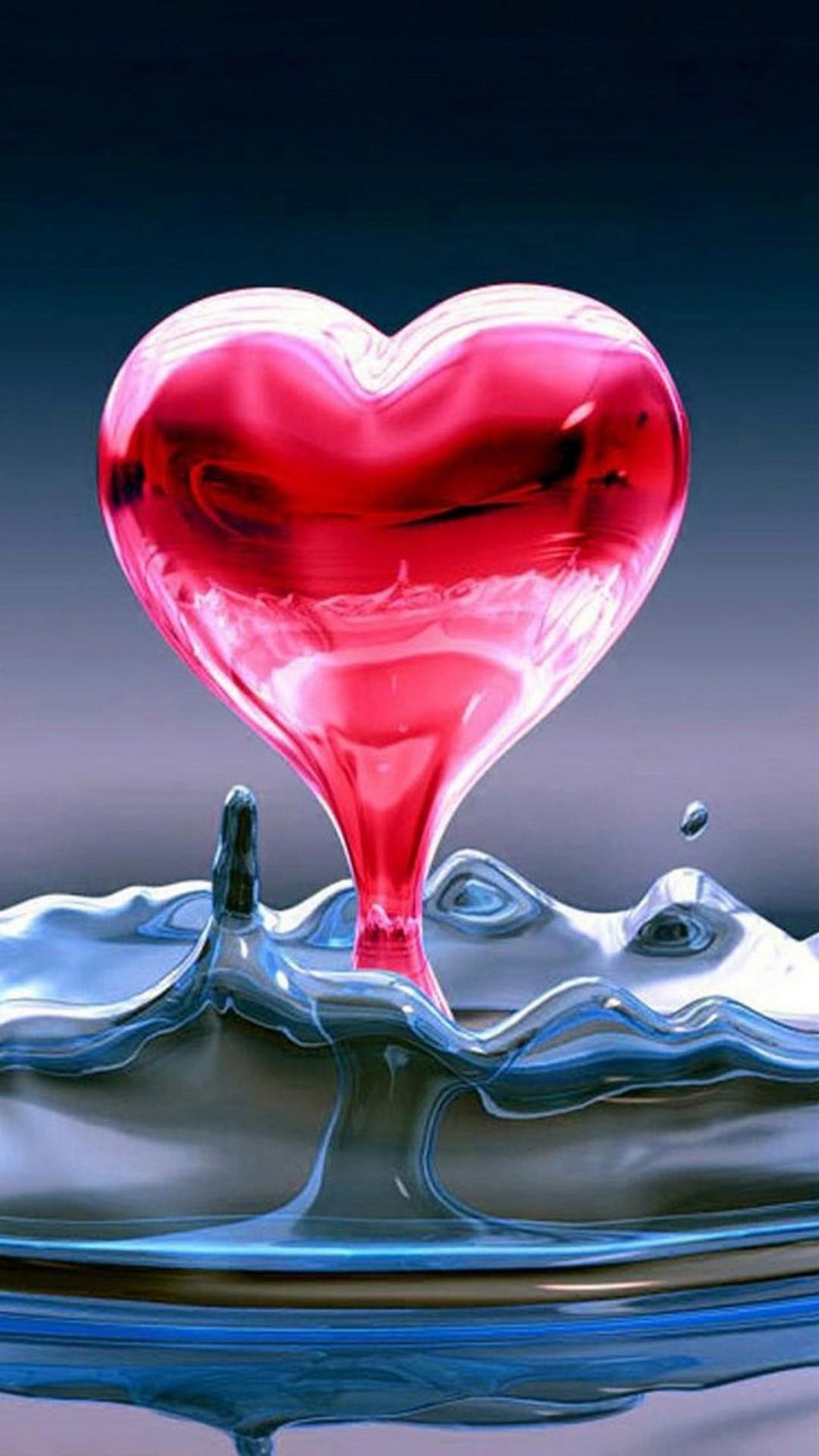 Heart Liquid Iphone Wallpaper Resolution - Heart Wallpaper For Iphone - HD Wallpaper