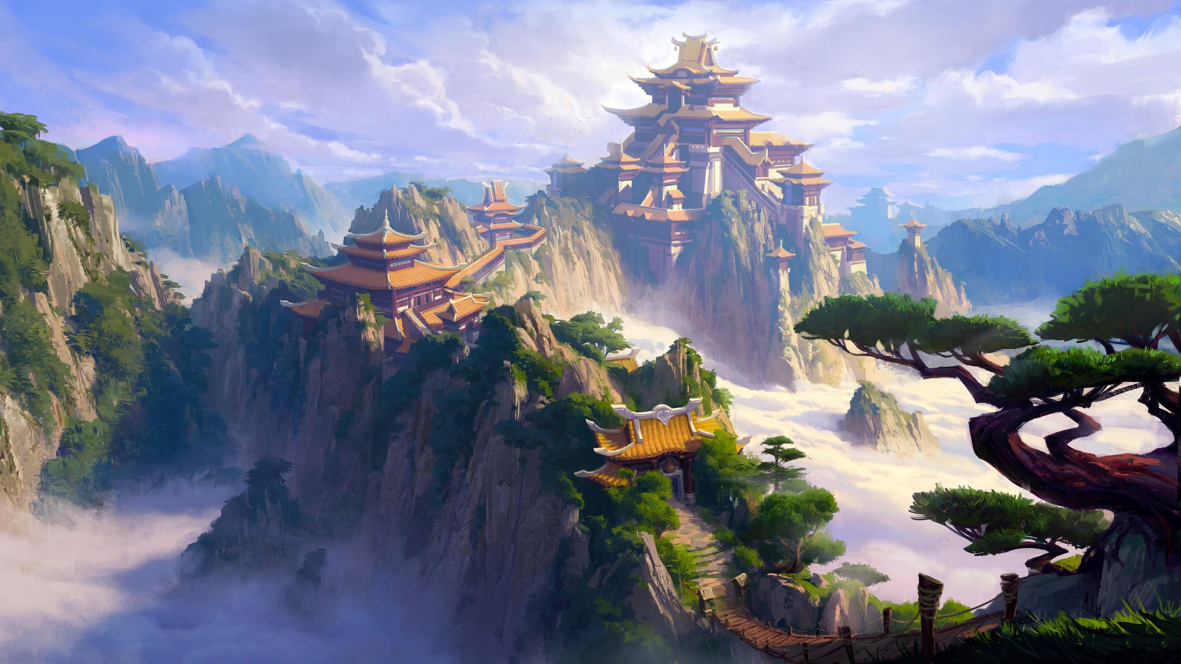 Fantasy Landscape Wallpaper 4k 3840x2160 Wallpaper Teahub Io