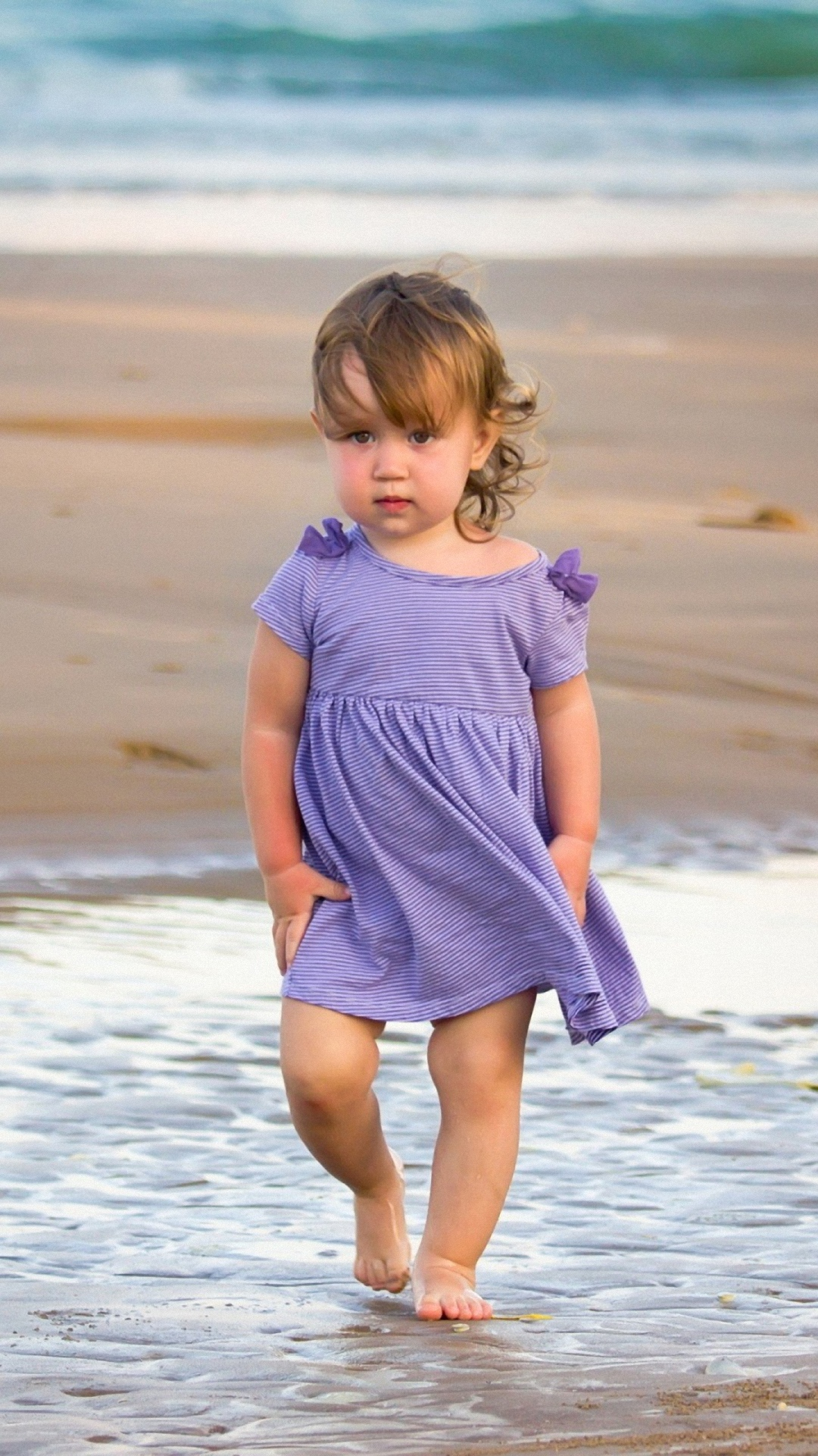 Hd Child Sea Surf Sand Galaxy S4 S5 Wallpapers - Nature And Baby Quotes - HD Wallpaper