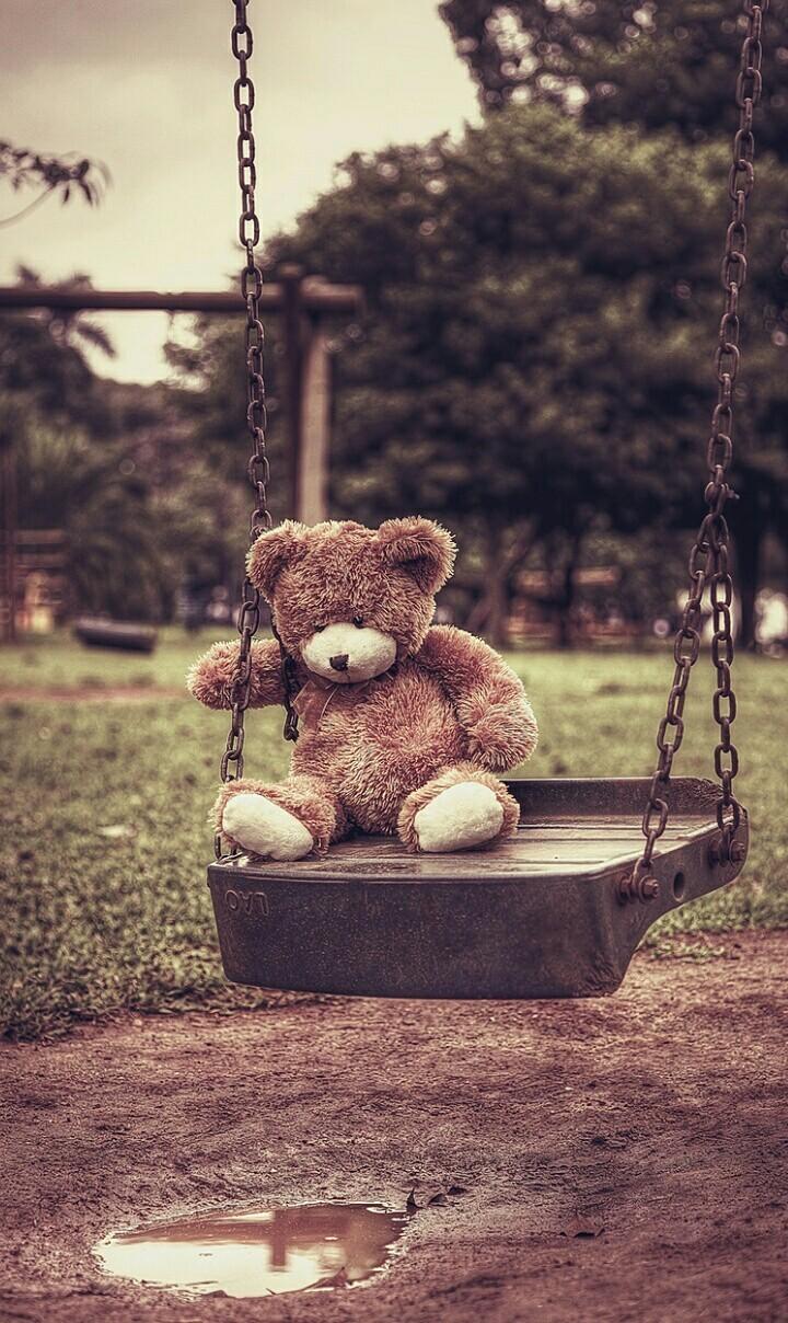 Wallpaper, Background, And Bear Image - Cute Teddy Bear Sad - HD Wallpaper