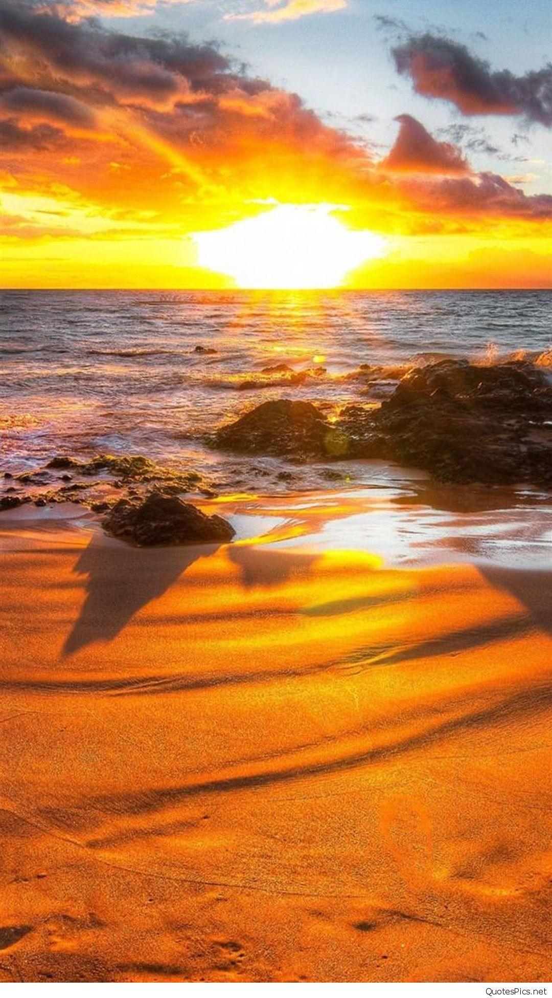 Sunset Hd Beach Iphone Wallpapers   Data Src - Sunset Beach Background Hd - HD Wallpaper