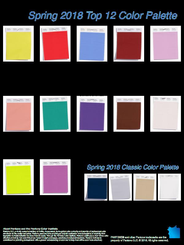 Clip Art Color Palette Spring - Color Palette Spring 2018 - HD Wallpaper