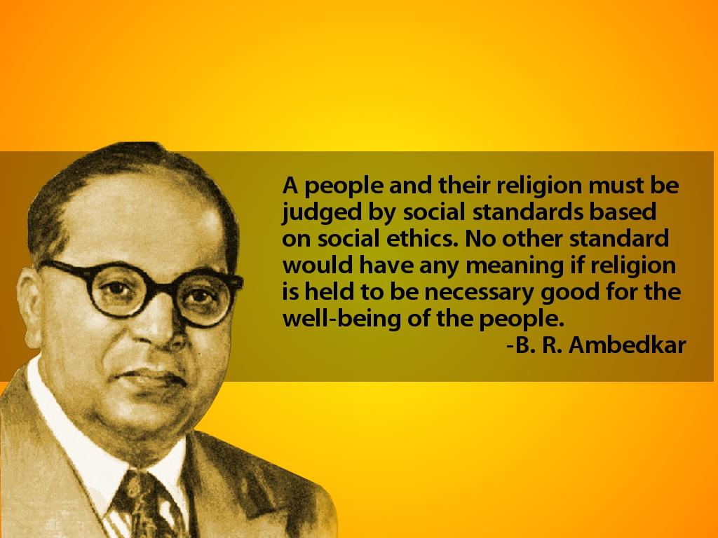 Quotes Dr Br Ambedkar - HD Wallpaper