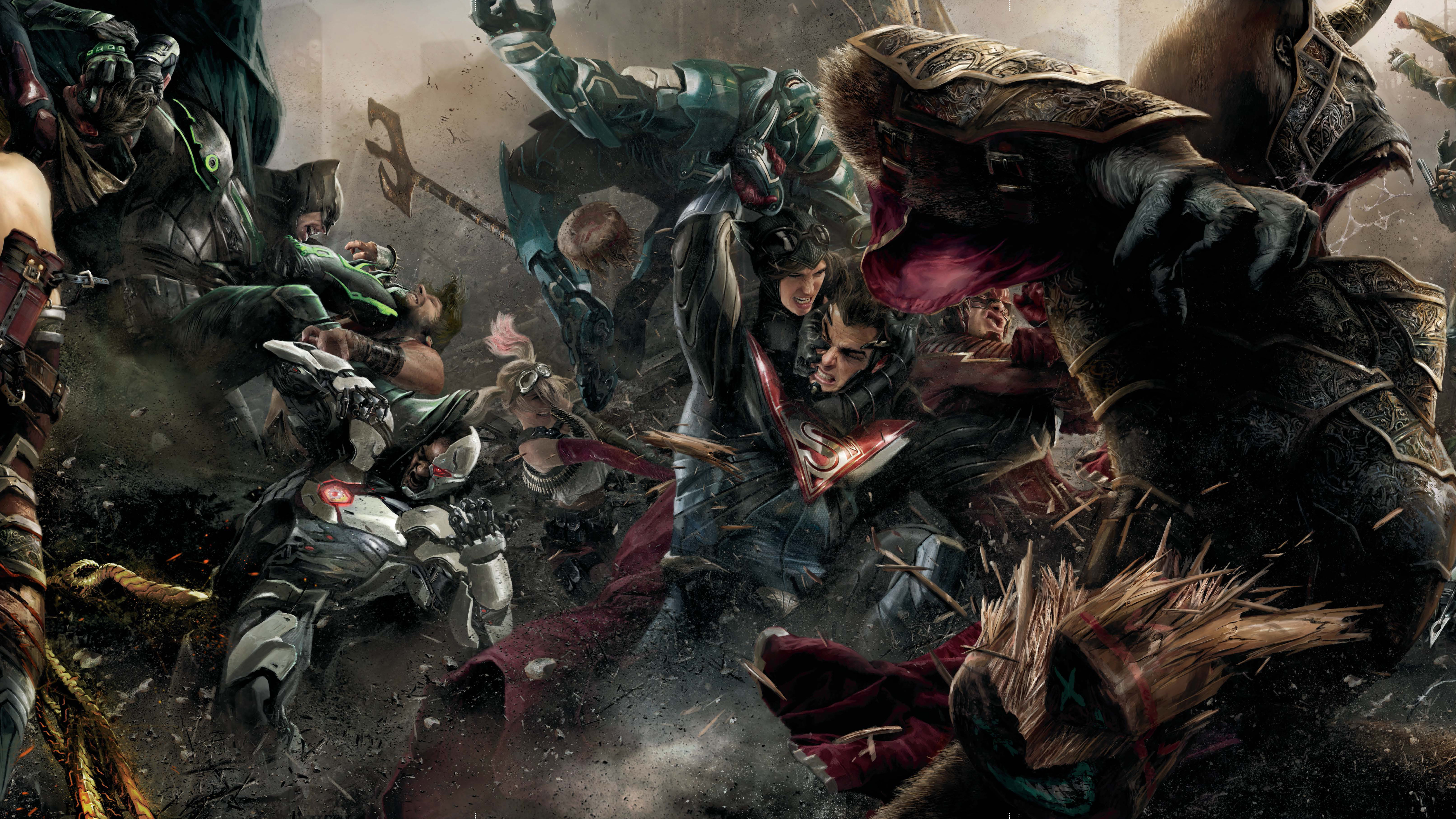 Wallpaper Of Video Game, Dc, Injustice, Injustice 2 - Injustice 2 Shattered Alliances - HD Wallpaper
