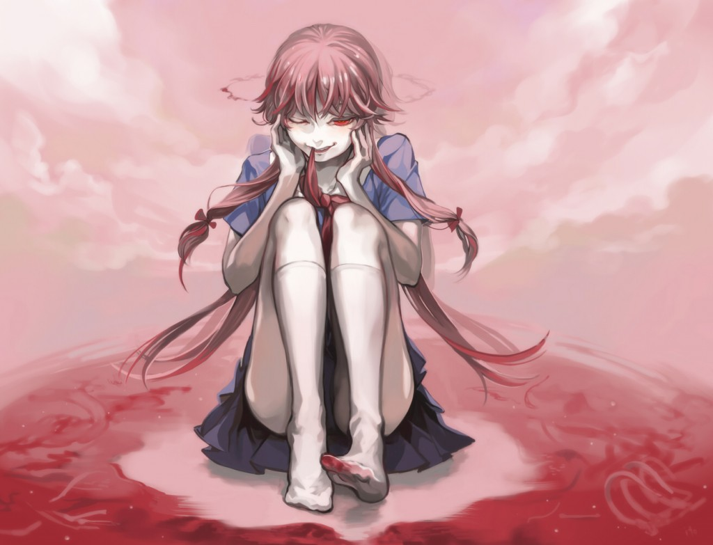 Mirai Nikki Yuno Gasai Fanart 1024x783 Wallpaper Teahub Io
