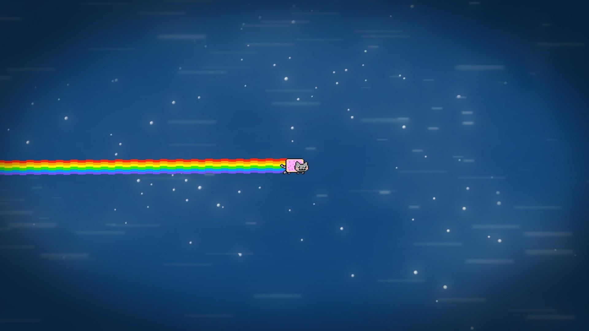Wiki Nyan Cat Desktop Backgrounds Pic Wpe004399   Data - Electric Blue - HD Wallpaper