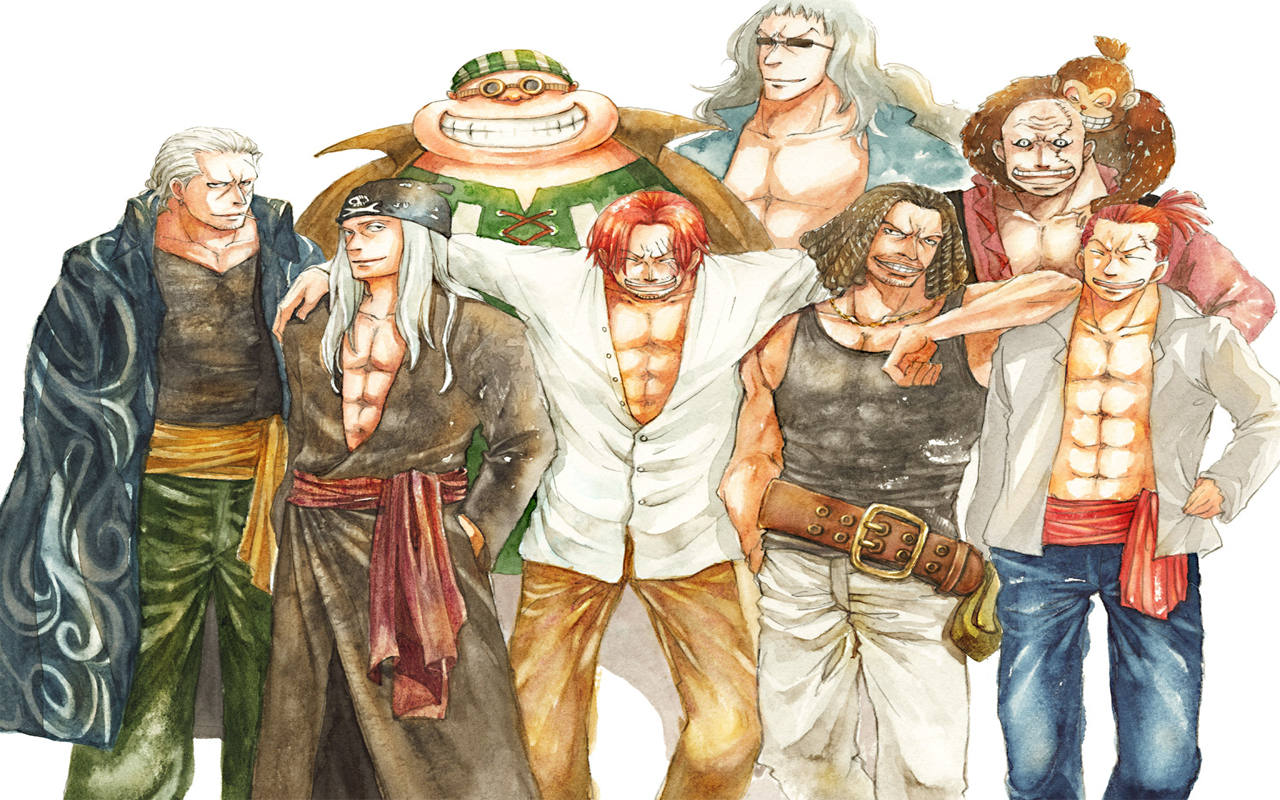 Shanks And Crew One Piece Red Hair Pirates 1280x800 Wallpaper Teahub Io