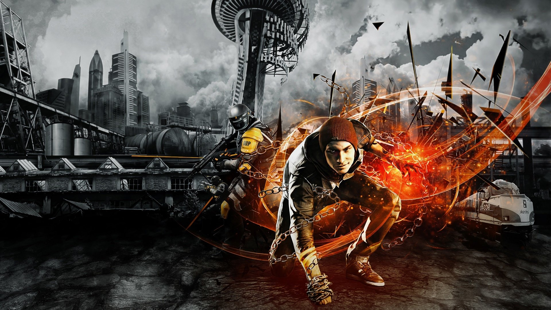 Infamous Second Son Background - HD Wallpaper
