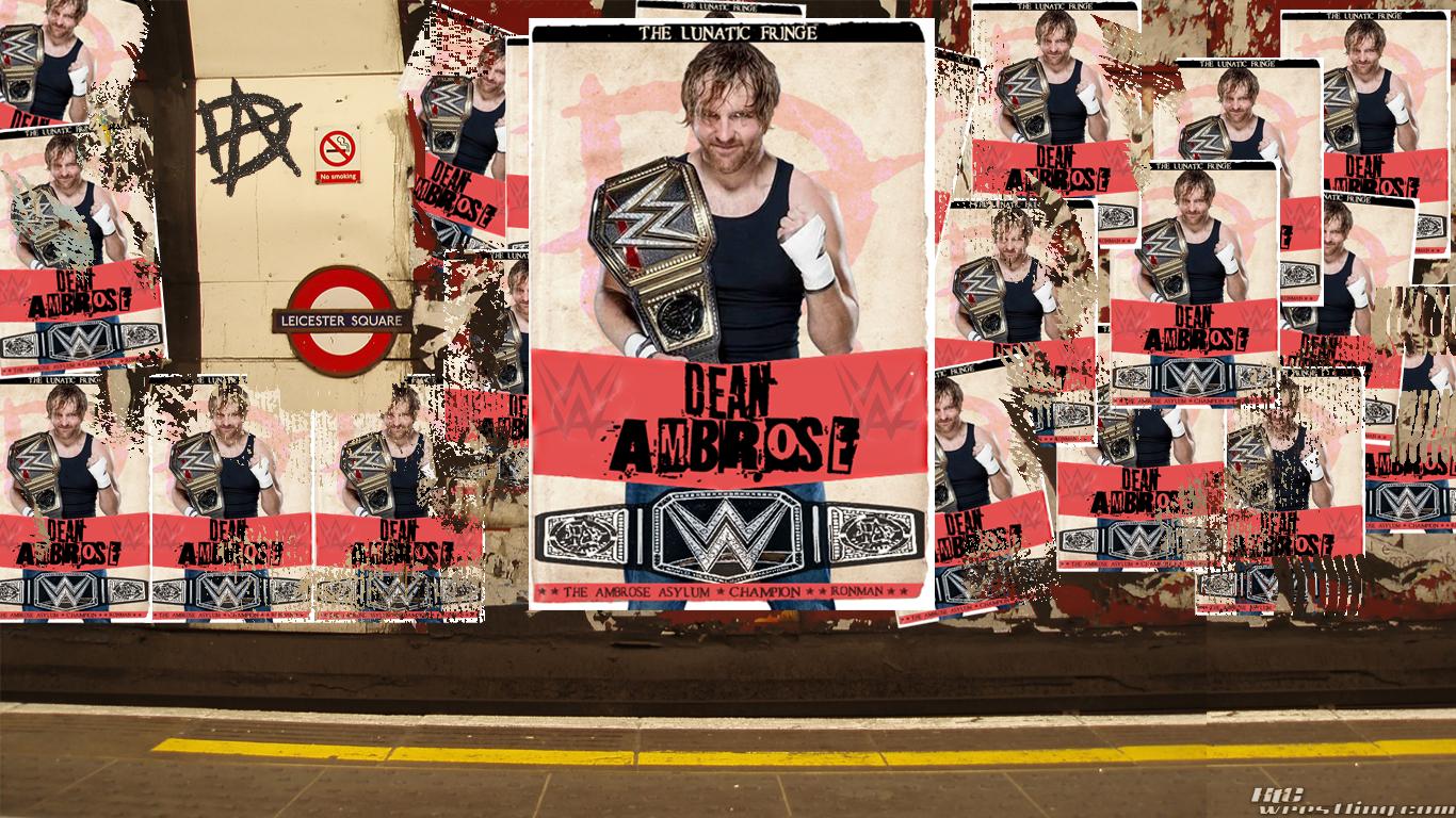 Dean Ambrose Us Champion 2017 - HD Wallpaper