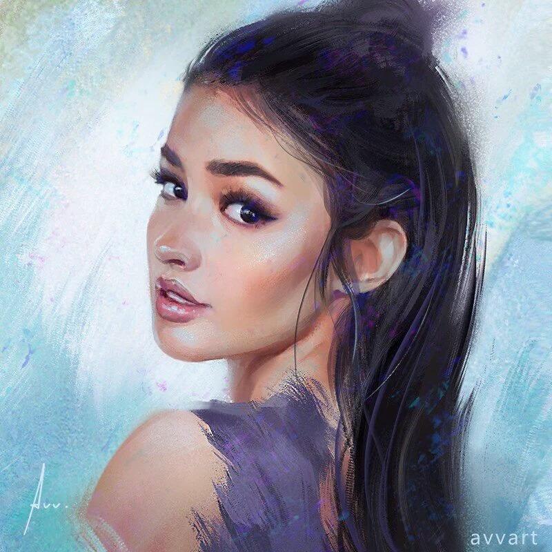 Liza Soberano Painting By Avvart ❤ - Woman Beautiful Portrait Drawing - HD Wallpaper