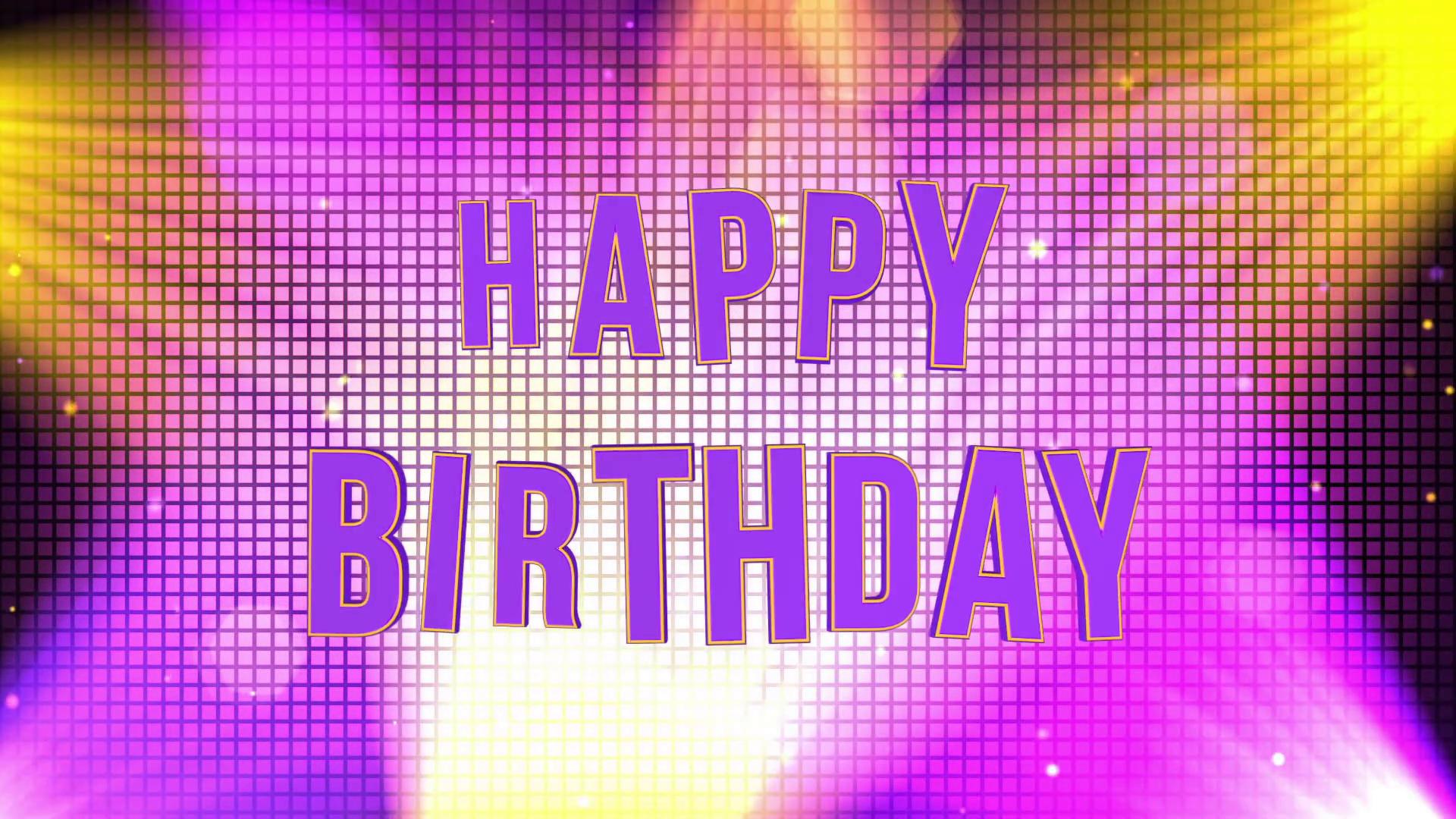 Video Happy Birthday 3d Animation - HD Wallpaper