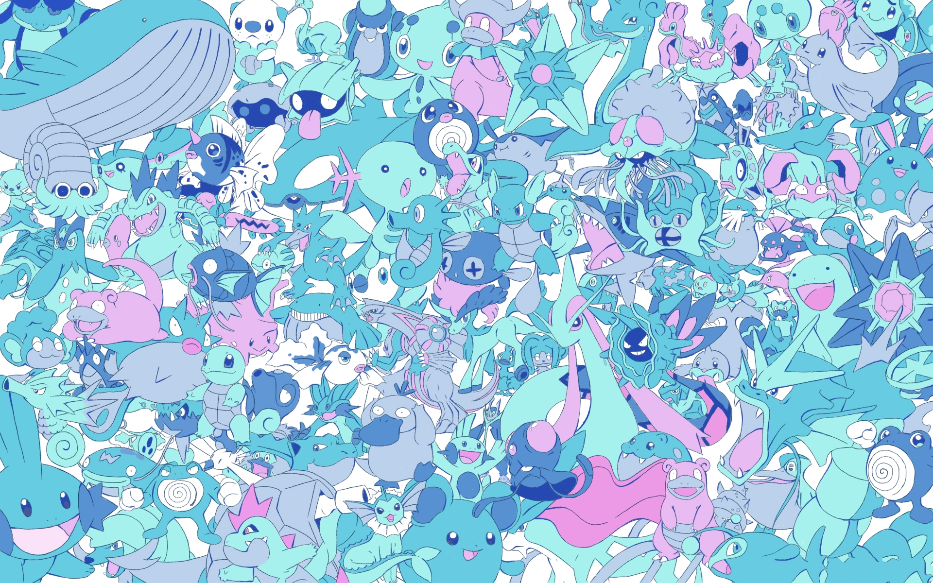 All Pokemon Wallpaper For Desktop Water Type Pokemon Background 1920x1200 Wallpaper Teahub Io