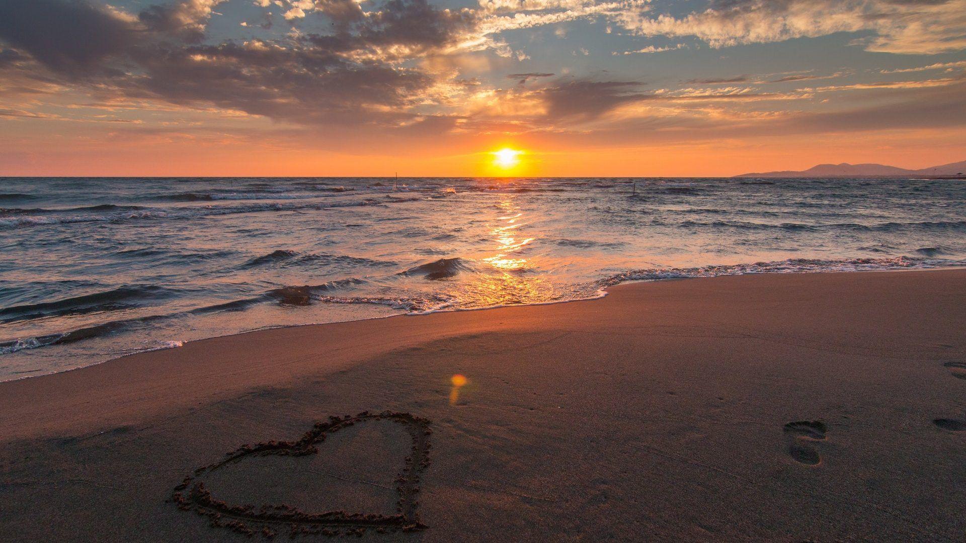 Love Sunset Hd Wallpapers 1080p Sunset Hd Wallpaper 1080p 1920x1080 Wallpaper Teahub Io