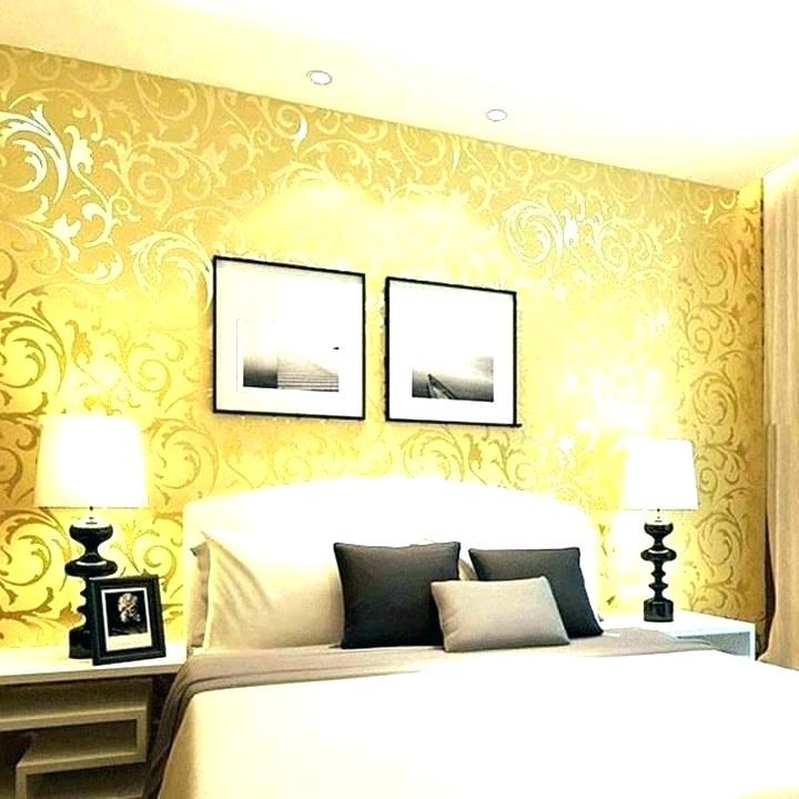 Wallpaper For Bedroom Walls Designs Wall Online Wallpaper - Blue Bedroom Wallpaper Ideas Yellow - HD Wallpaper