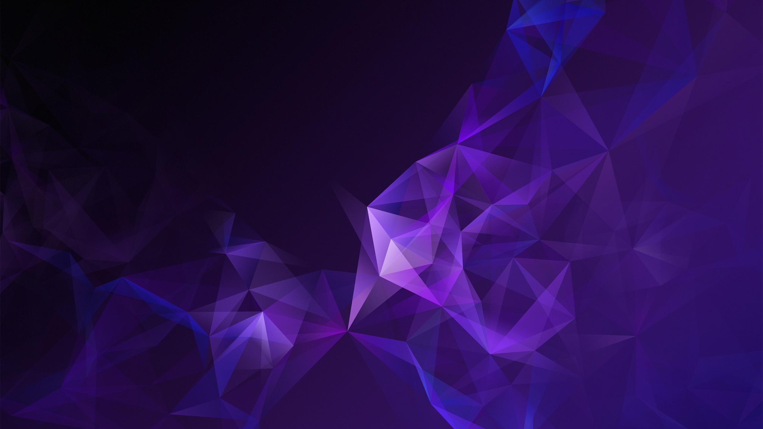 Purple Triangles, Low Poly, Geometric, Smoke - S9 Theme - HD Wallpaper