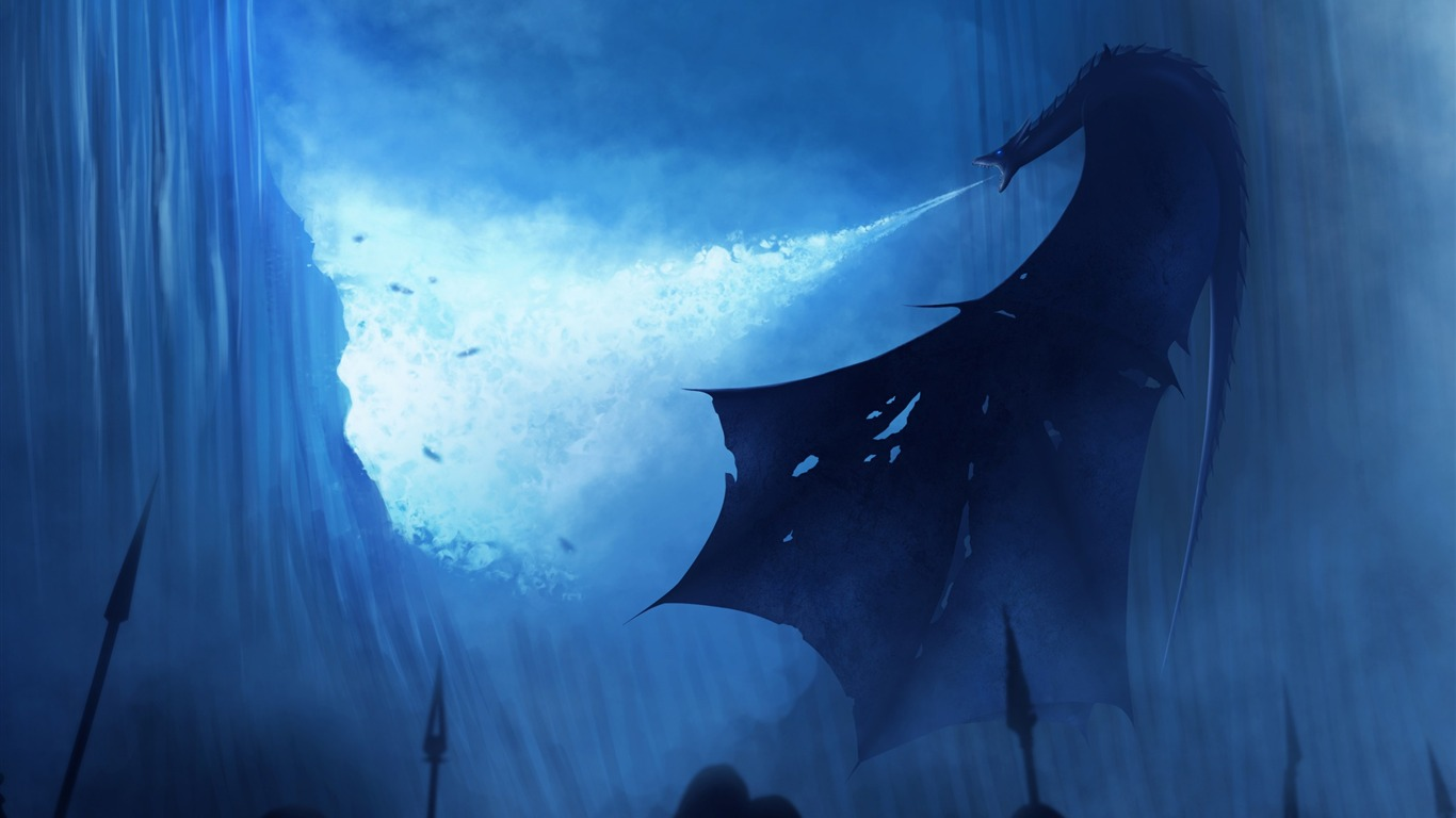 White Walker Ice Dragon Juego De Tronos-2017 Movie - Game Of Thrones White Walker Dragon - HD Wallpaper