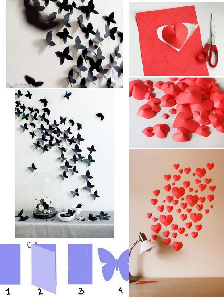 Hiasan Dinding Dari Kertas - Diy Room Decor Butterfly - HD Wallpaper