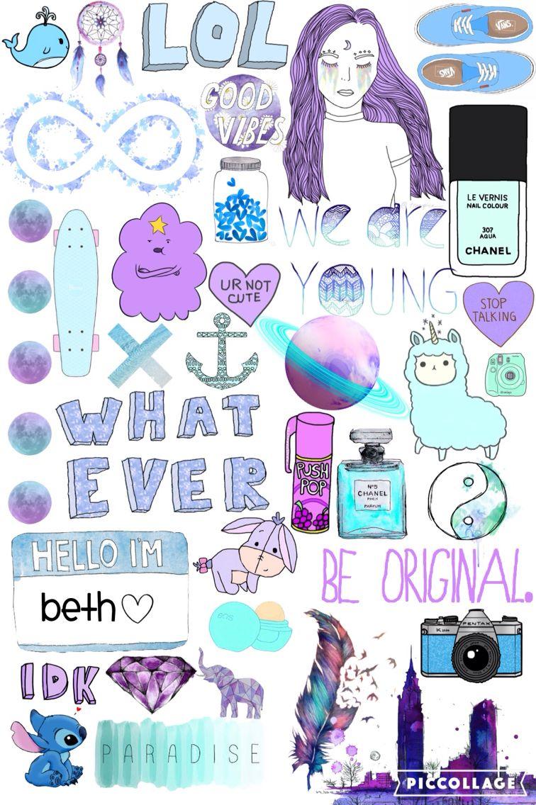 Purple Aesthetic Stickers Collage 756x1136 Wallpaper Teahub Io