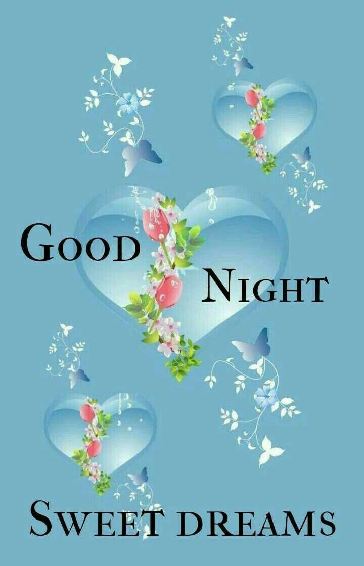 Good Night Images For Whatsapp Blue Hearts Light 720x1120 Wallpaper Teahub Io