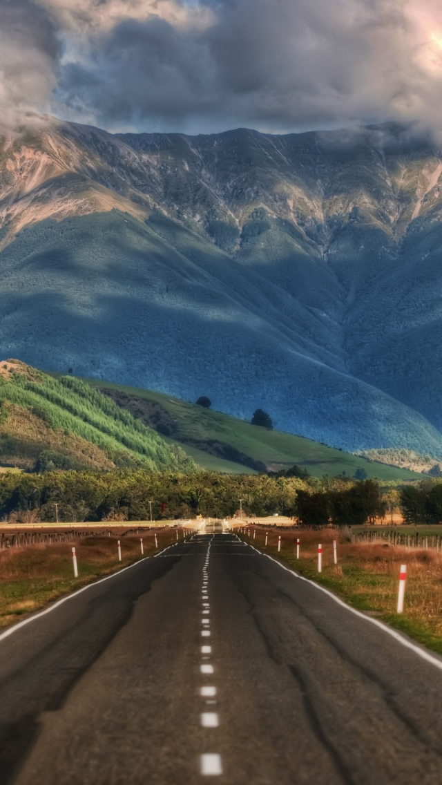 Road In New Zealand Iphone Wallpaper - New Zealand Iphone 7 - HD Wallpaper