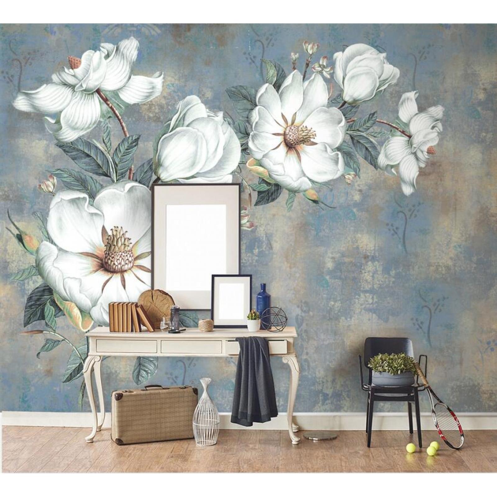 Flower Wall Mural Painting - HD Wallpaper