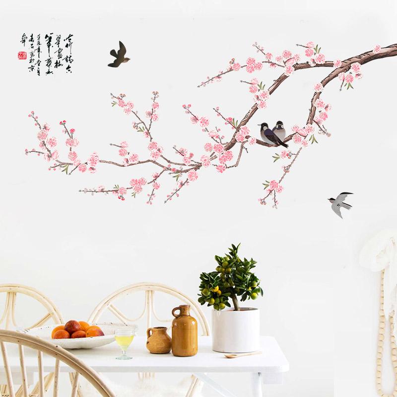 Hand Painted Wallpaper Flower Wallpaper Warm Bedroom - Flower Bedroom Wall Painting - HD Wallpaper
