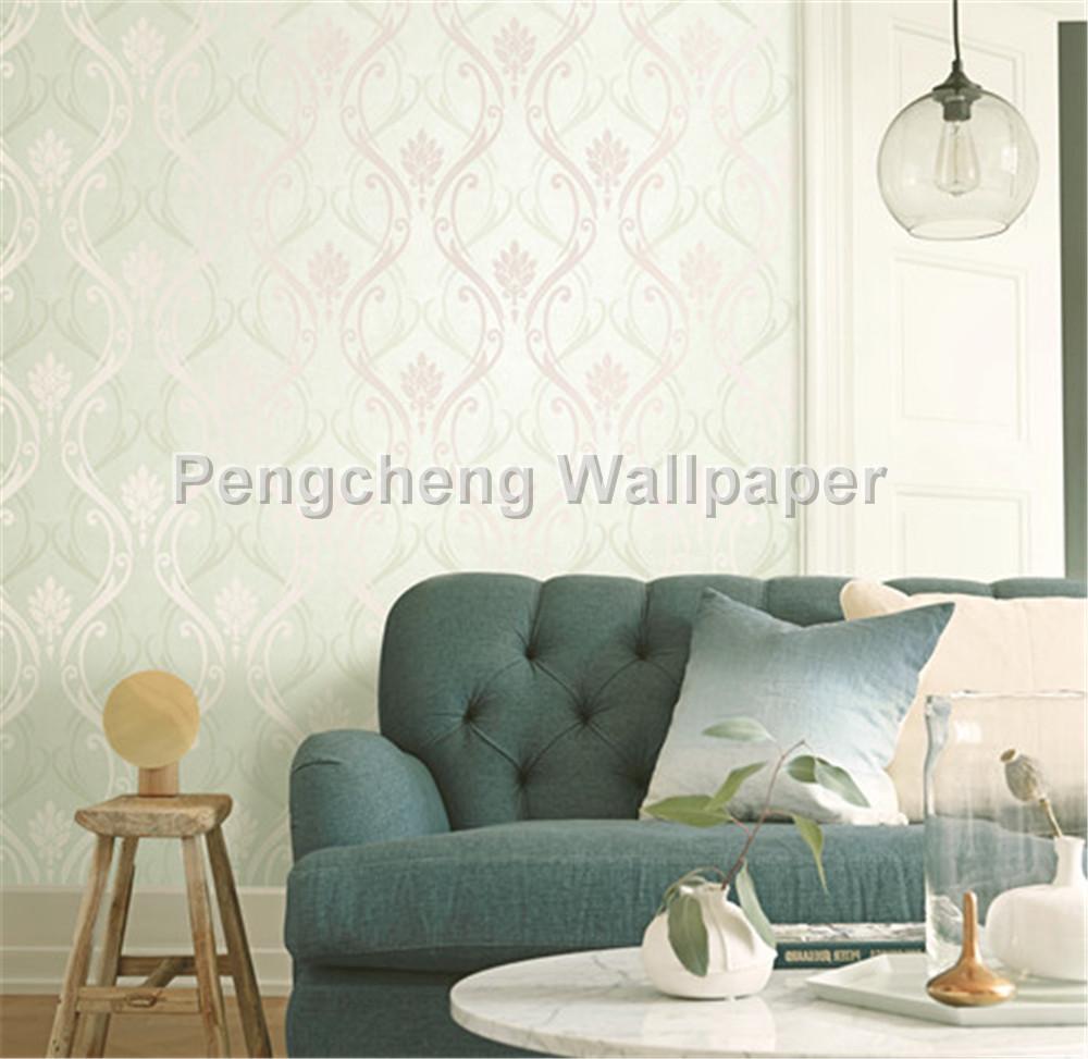 53*10m Flower Wallpaper For Living Room Bedroom Hotel - Light Color Wall Paper Design - HD Wallpaper