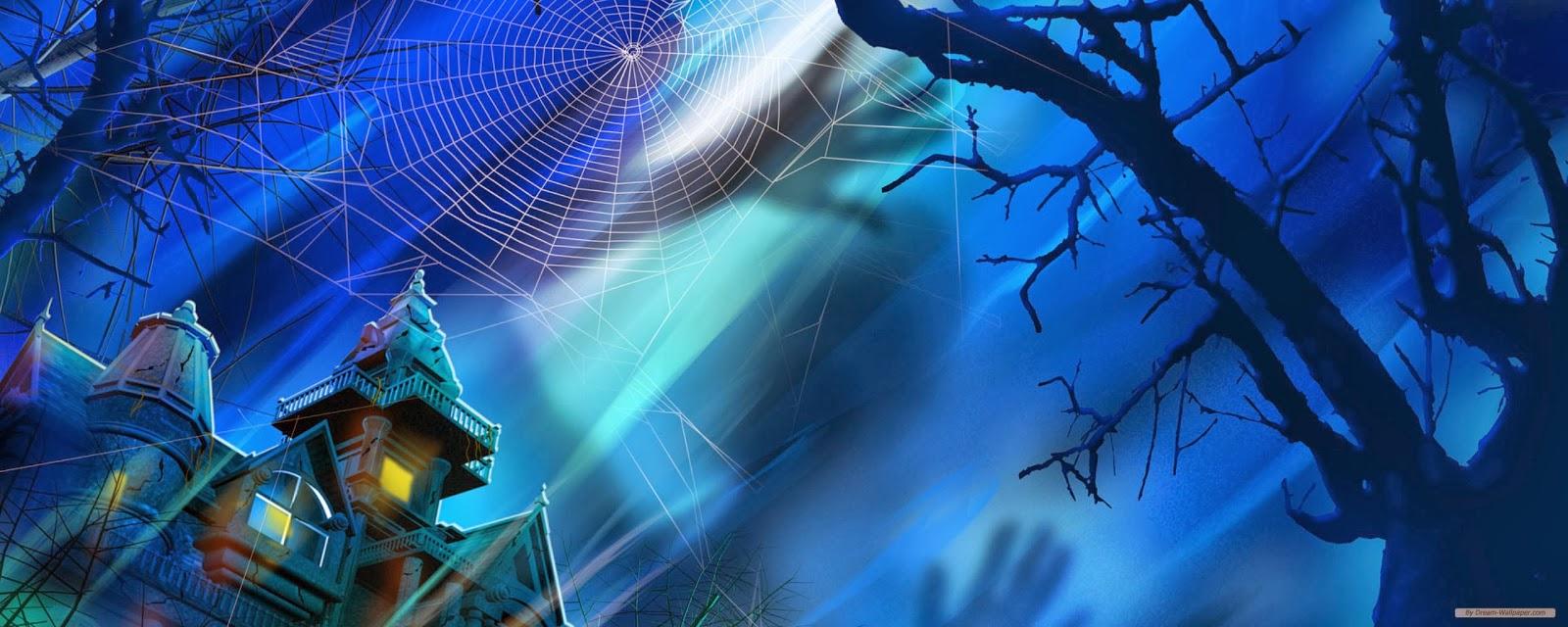 Halloween Dual Monitor Background 1600x640 Wallpaper Teahub Io