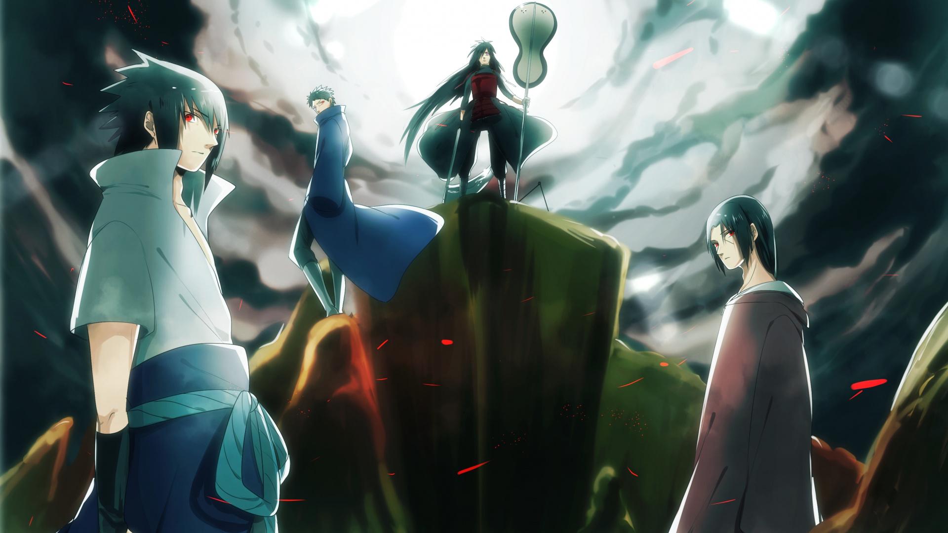Wallpaper Naruto Sasuke Madara Uchiha Clan Itachi Obito - Sasuke And Itachi - HD Wallpaper