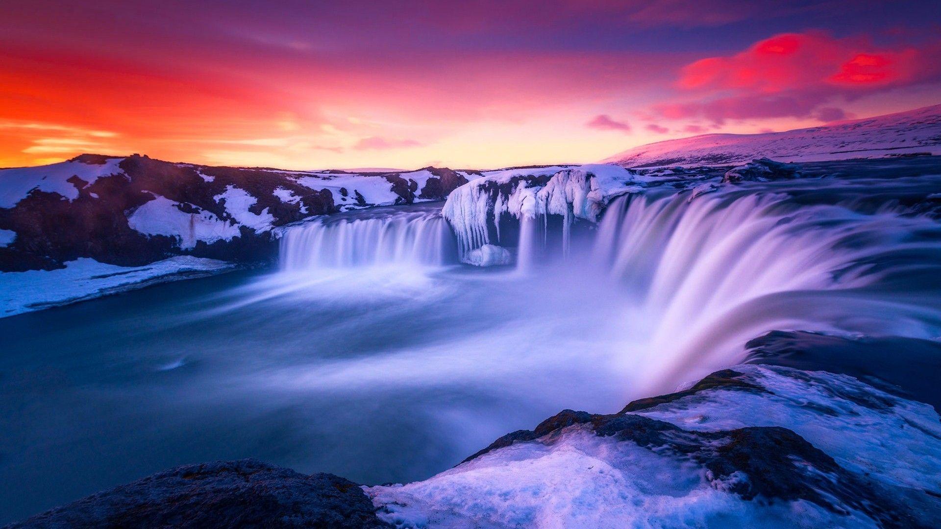 Waterfall Iceland Laptop Full Hd 1080p Hd 4k Wallpapers Waterfall Wallpaper Huawei 1920x1080 Wallpaper Teahub Io