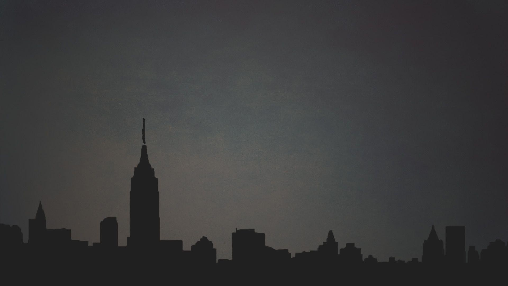 Wallpapers For Minimalist Wallpaper Dark Data Src New York Minimal Background 1920x1080 Wallpaper Teahub Io