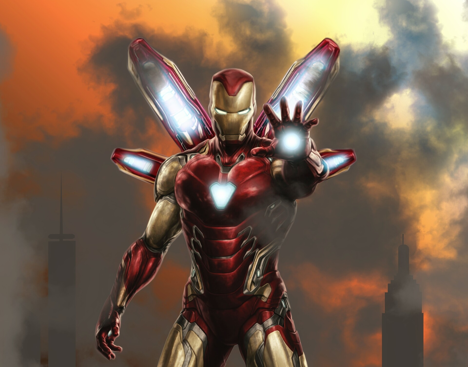Iron Man Mark 85 - HD Wallpaper