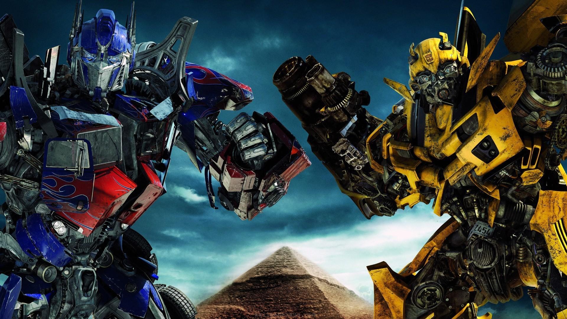 Transformers Wallpaper For Desktop Background Ololoshka - Optimus Prime And Bumblebee Wallpaper Hd - HD Wallpaper