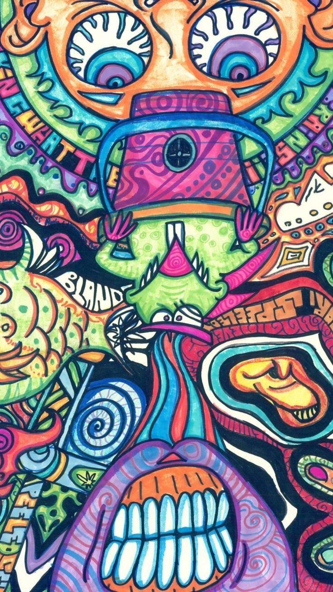 Trippy Wallpapers For Iphone 7 Plus 6   Data-src - Psychedelic Art Wallpaper Iphone - HD Wallpaper