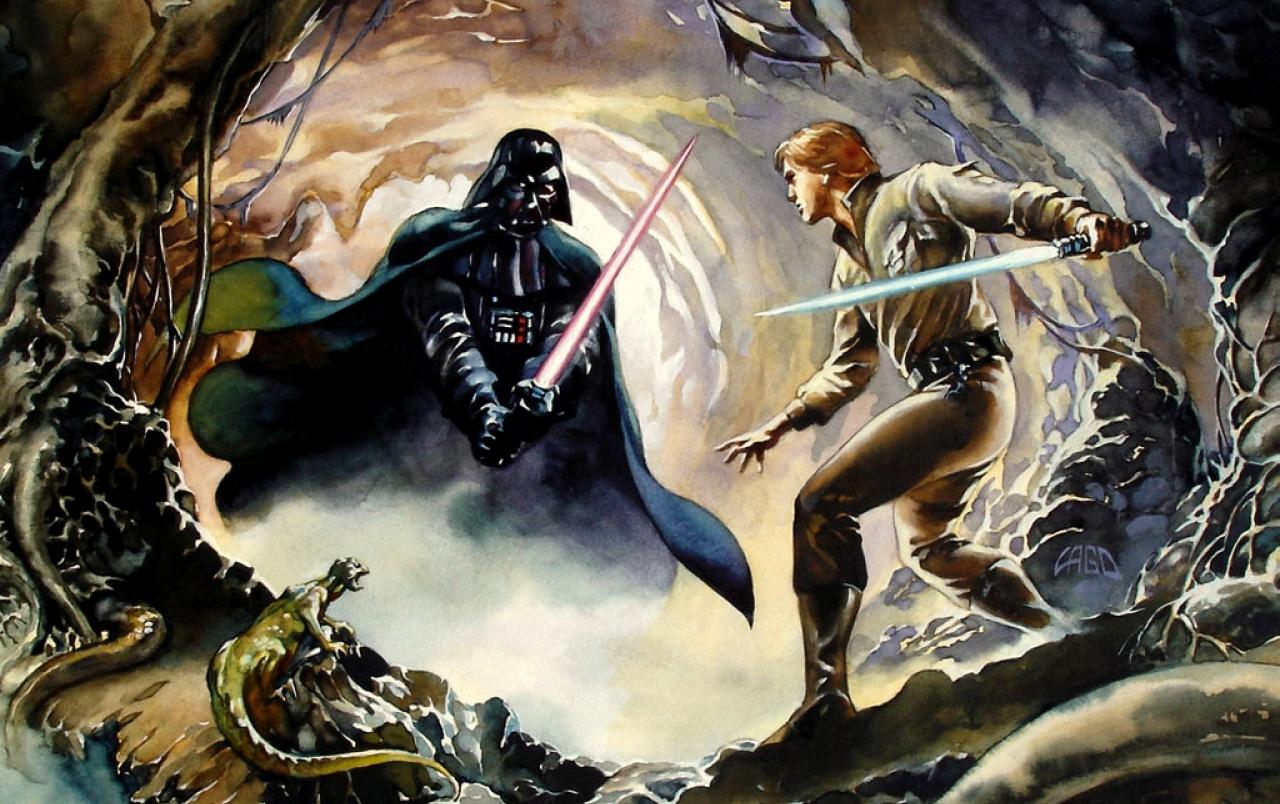 Luke Skywalker Vs Darth Vader Wallpapers Believe In You Star Wars 1280x804 Wallpaper Teahub Io