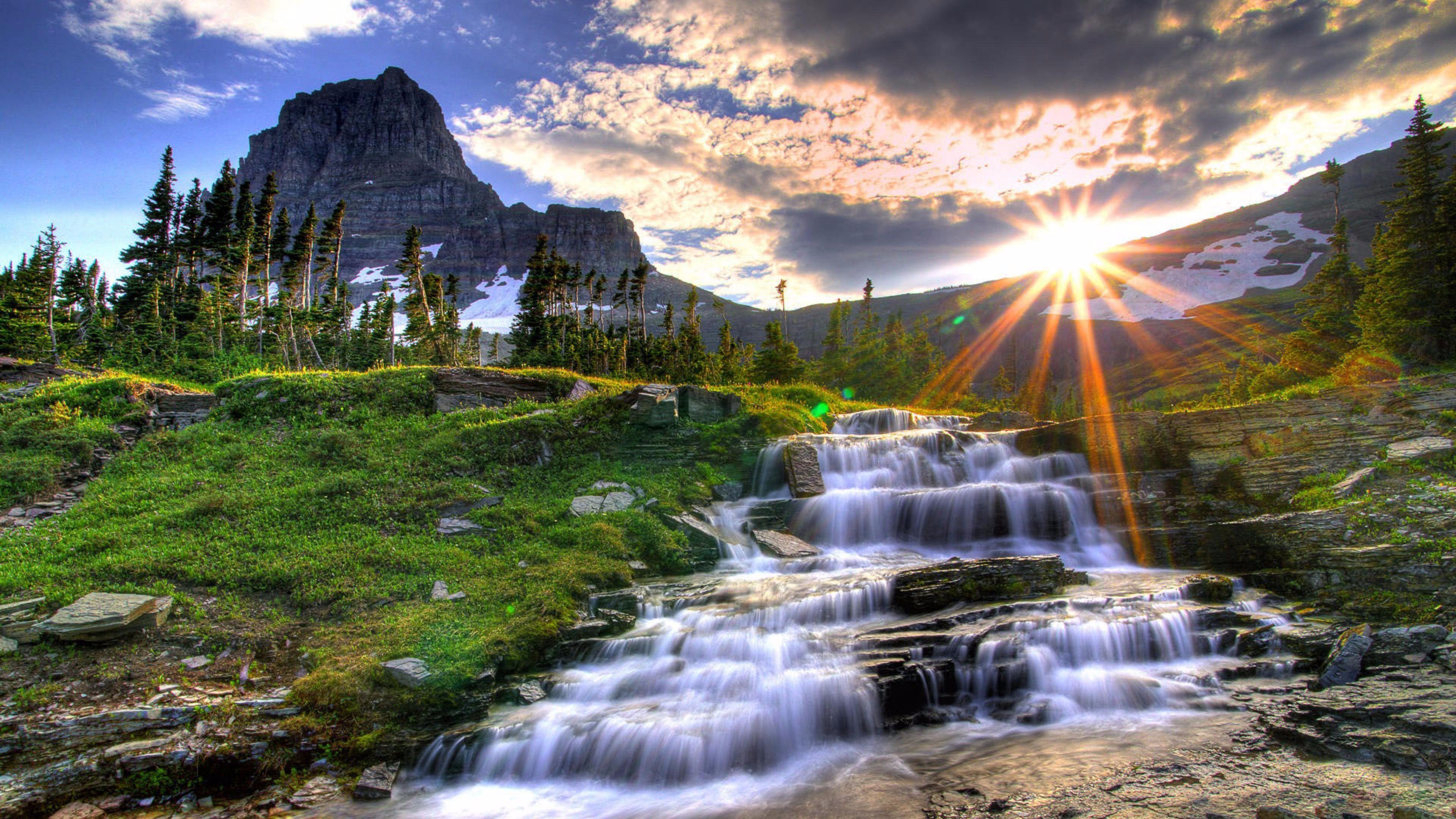 Sunrise Uhd 4k Mountains Wallpaper - Nature 1080p - HD Wallpaper