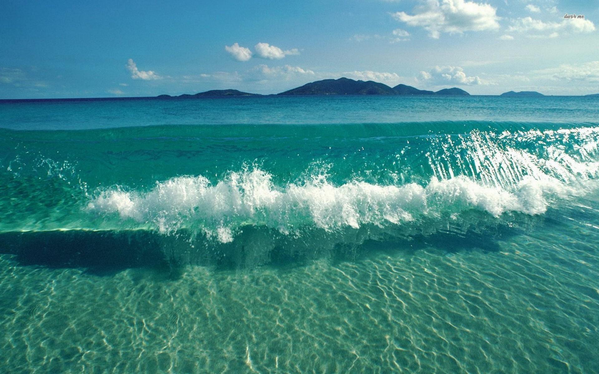 Ocean Waves Wallpaper High Quality   Data-src - Beach Waves Desktop Background - HD Wallpaper