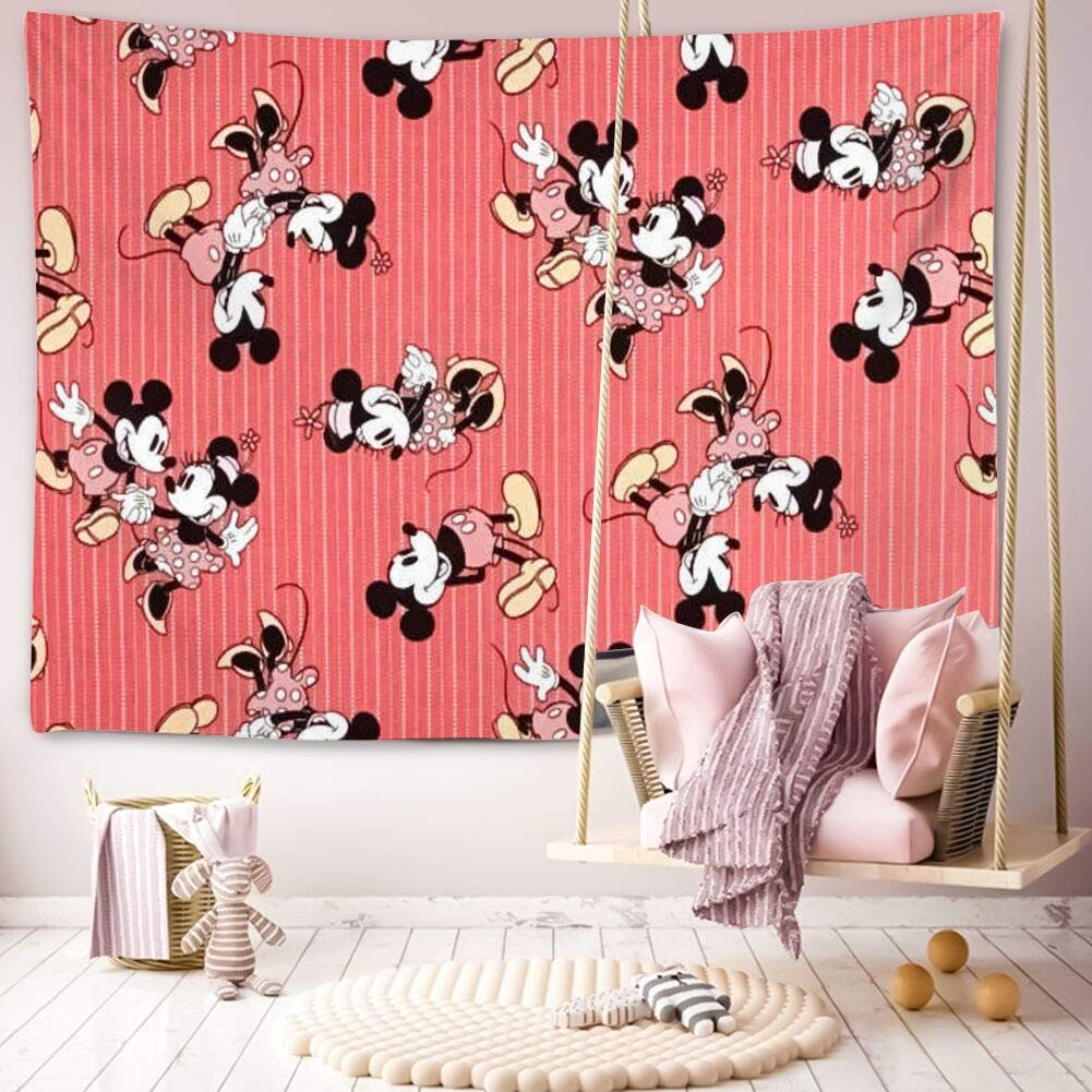 Disney Collection Tapestry Red Mickey Mouse Wallpaper Window Valance 1001x1001 Teahub Io